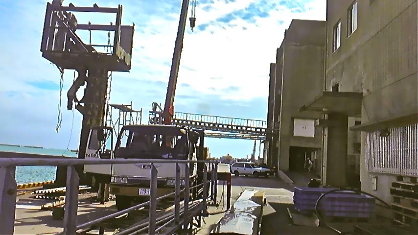 糸満漁港 コンベア撤去の様子